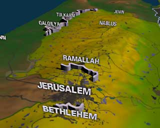 israel fence map